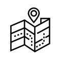 map location line icon vector image