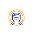 metro subway transport line icon public vector image