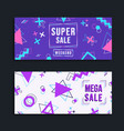 modern sale template colorful geometric set vector image vector image