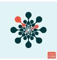 Molecule logo icon vector image vector image
