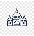 mosque domes concept linear icon isolated on vector image