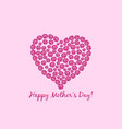 mothers day flower heart card vector image