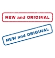 New and Original Rubber Stamps vector image vector image