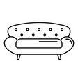 old sofa icon outline style vector image vector image