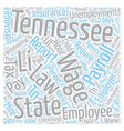 Payroll Tennessee Unique Aspects of Tennessee vector image vector image