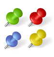 pins over white vector image vector image