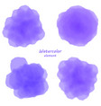 purple watercolor blotch set of purple watercolor vector image vector image