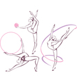 Rhythmic gymnastics set vector image