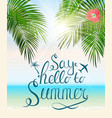 Say hello to summer natural background