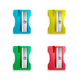 sharpeners various colors vector image vector image