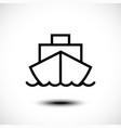 ship line icon vector image