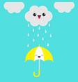 smiling laughing umbrella cute cartoon kawaii vector image vector image