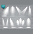spotlight set bright light beam vector image vector image