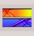 stripe banner design vector image vector image