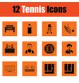 tennis icon set vector image vector image