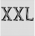 The letters XXL vector image vector image