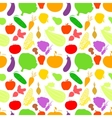 Vegetables seamless pattern light background with vector image vector image