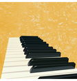 vintage piano background vector image vector image