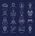 virtual reality icon set in linear style vector image vector image