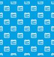 weather calendar pattern seamless blue vector image vector image