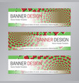 web header design red green banner template vector image vector image