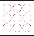 wine glass stain circle and drops vector image