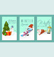 winter holidays and weekends set of banners cards vector image vector image