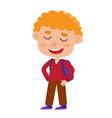 color of pretty curly boy vector image