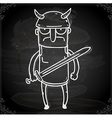 Gladiator Drawing on Chalk Board vector image
