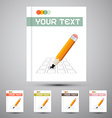 Brochure Cover Design Template with Pencil Check vector image
