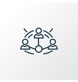affiliate marketing icon line symbol premium vector image