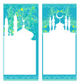 artistic pattern background with moon and mosque vector image vector image