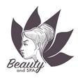 beauty salon spa procedures making woman healthier vector image
