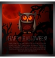 Big halloween banner with of brown vector image vector image