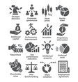 business management icons pack 42 vector image vector image