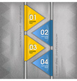 business triangles blue yellow with text vector image