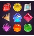 Cartoon Gems and Diamonds Icons Set vector image vector image