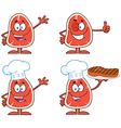 Cartoon meat vector image vector image