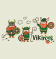cartoon ship scandinavian viking drakkar vector image vector image