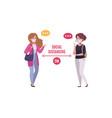 cartoon social distancing concept vector image vector image