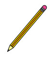 color wood pencil object school style vector image vector image