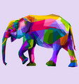 colorful walking elephant vector image vector image