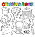 coloring book school cartoons 9 vector image vector image