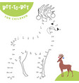 connect the dots to draw the animal educational vector image vector image