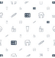 cosmetic icons pattern seamless white background vector image vector image