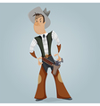 cowboy funny cartoon character vector image