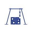 crane pdca vector image vector image