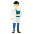 Doctor holding file vector image vector image