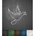 dove icon Hand drawn vector image vector image
