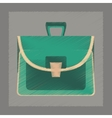 flat shading style icon school bag case vector image vector image
